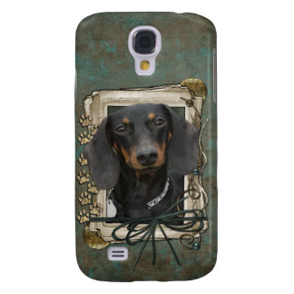 Fathers Day - Stone Paws - Dachshund - Winston Galaxy S4 Case