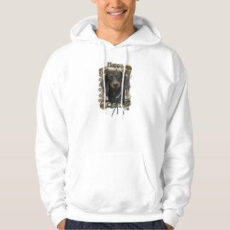 Fathers Day - Stone Paws - Dachshund - Winston Hooded Pullover