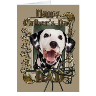 Fathers Day - Stone Paws - Dalmatian Greeting Card