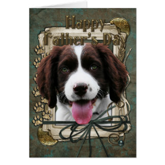 Fathers Day -Stone Paws - English Springer Spaniel Card