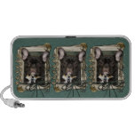Fathers Day - Stone Paws - French Bulldog - Teal iPod Speakers