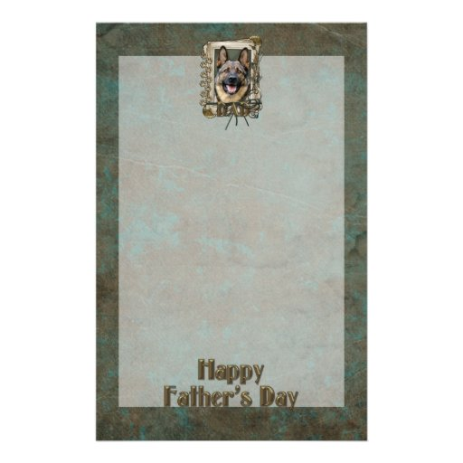 Fathers Day - Stone Paws - German Shepherd Customised Stationery