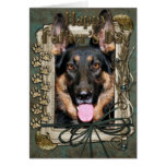 Fathers Day - Stone Paws - German Shepherd - Kuno Greeting Card