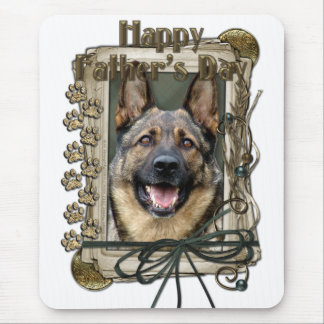 Fathers Day - Stone Paws - German Shepherd Mouse Mat