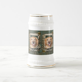 Fathers Day - Stone Paws Golden Retriever - Corona Beer Steins