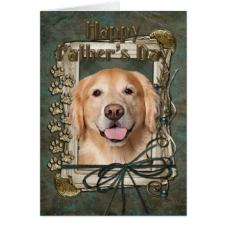 Fathers Day - Stone Paws Golden Retriever - Corona Greeting Cards