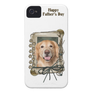 Fathers Day - Stone Paws Golden Retriever - Corona iPhone 4 Covers