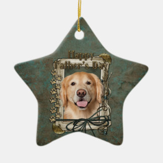 Fathers Day - Stone Paws Golden Retriever - Corona Christmas Tree Ornaments