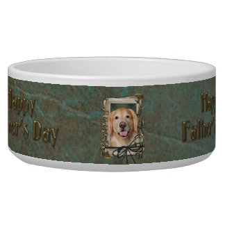 Fathers Day - Stone Paws Golden Retriever - Corona Dog Bowls