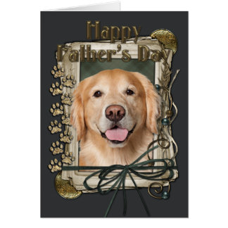 Fathers Day - Stone Paws Golden Retriever Corona Greeting Card