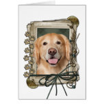 Fathers Day - Stone Paws Golden Retriever - Corona Greeting Card