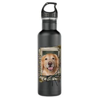 Fathers Day - Stone Paws Golden Retriever - Corona 24oz Water Bottle