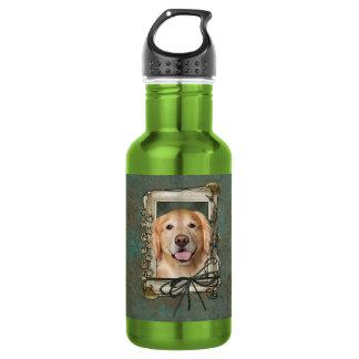 Fathers Day - Stone Paws Golden Retriever - Corona 532 Ml Water Bottle