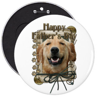 Fathers Day - Stone Paws - Golden Retriever Mickey Button