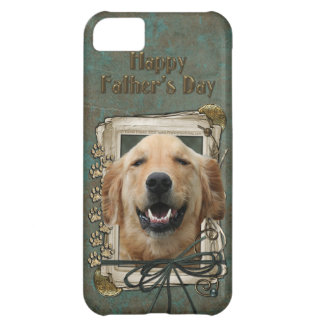 Fathers Day - Stone Paws - Golden Retriever Mickey iPhone 5C Case