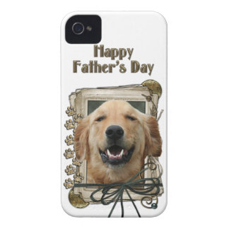 Fathers Day - Stone Paws - Golden Retriever Mickey iPhone 4 Case-Mate Cases