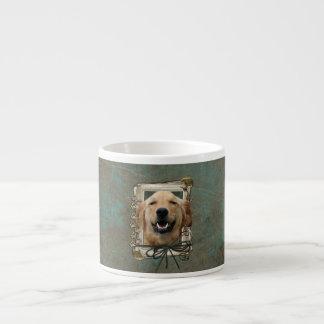 Fathers Day - Stone Paws - Golden Retriever Mickey Espresso Mug