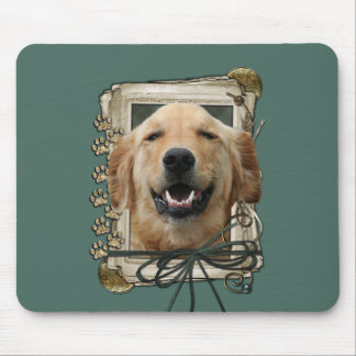 Fathers Day - Stone Paws - Golden Retriever Mickey Mouse Pads