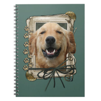 Fathers Day - Stone Paws - Golden Retriever Mickey Note Books
