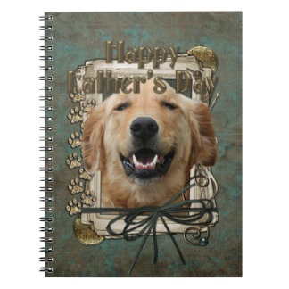 Fathers Day - Stone Paws - Golden Retriever Mickey Spiral Note Book