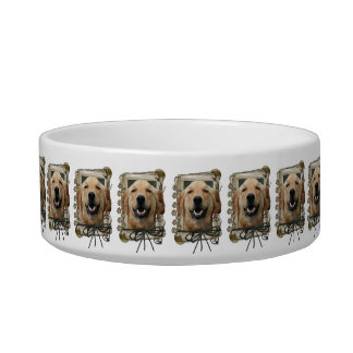 Fathers Day - Stone Paws - Golden Retriever Mickey Pet Water Bowls