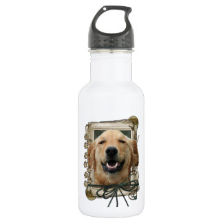 Fathers Day - Stone Paws - Golden Retriever Mickey 532 Ml Water Bottle