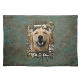 Fathers Day - Stone Paws - Golden Retriever Mickey Place Mats