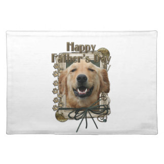 Fathers Day - Stone Paws - Golden Retriever Mickey Place Mat