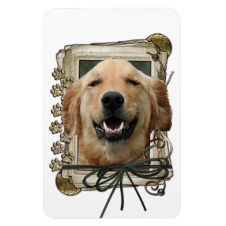 Fathers Day - Stone Paws - Golden Retriever Mickey Vinyl Magnet