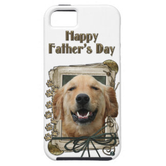 Fathers Day - Stone Paws - Golden Retriever Mickey Tough iPhone 5 Case