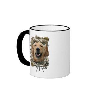 Fathers Day - Stone Paws - Golden Retriever Coffee Mug