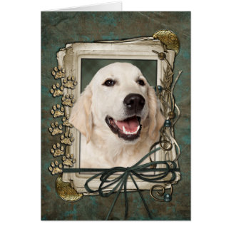 Fathers Day - Stone Paws - Golden Retriever Tebow Greeting Card