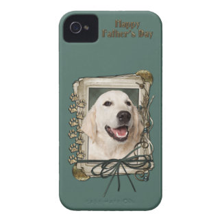 Fathers Day - Stone Paws - Golden Retriever Tebow iPhone 4 Case-Mate Case