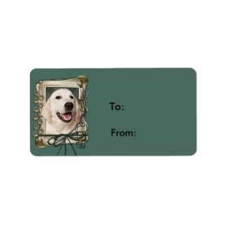Fathers Day - Stone Paws - Golden Retriever Tebow Address Label