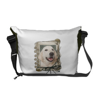 Fathers Day - Stone Paws - Golden Retriever Tebow Commuter Bags
