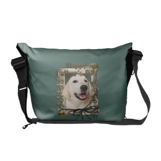 Fathers Day - Stone Paws - Golden Retriever Tebow Messenger Bags