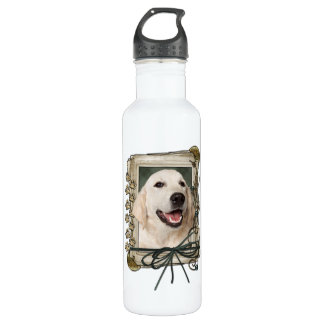 Fathers Day - Stone Paws - Golden Retriever Tebow 24oz Water Bottle