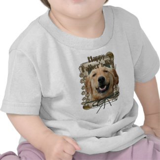 Fathers Day - Stone Paws - Golden Retriever Shirts