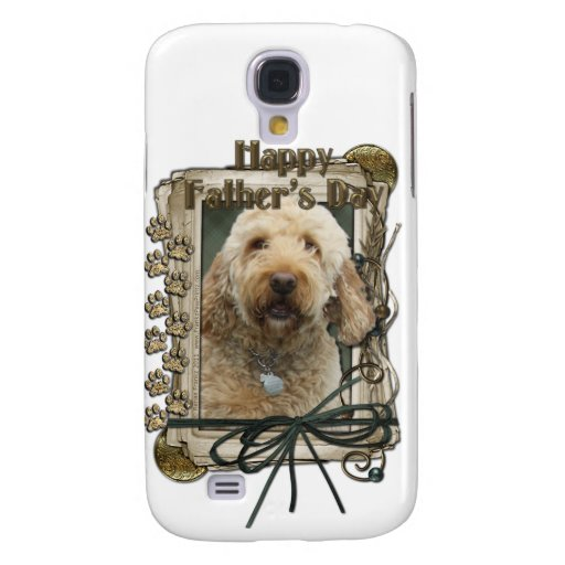 Fathers Day - Stone Paws - GoldenDoodle Samsung Galaxy S4 Case