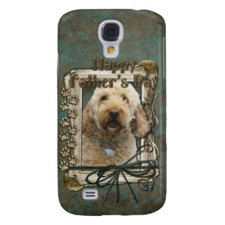 Fathers Day - Stone Paws - GoldenDoodle Galaxy S4 Case