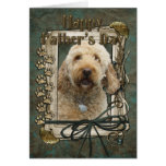 Fathers Day - Stone Paws - GoldenDoodle Greeting Card