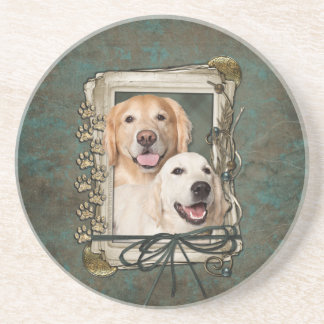Fathers Day - Stone Paws - Goldens Corona and Tebo Coaster