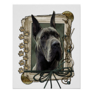 Fathers Day - Stone Paws - Great Dane - Grey Print