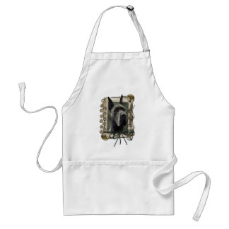 Fathers Day - Stone Paws - Great Dane - Grey Standard Apron
