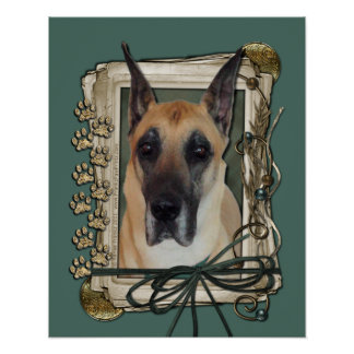 Fathers Day - Stone Paws - Great Dane Poster