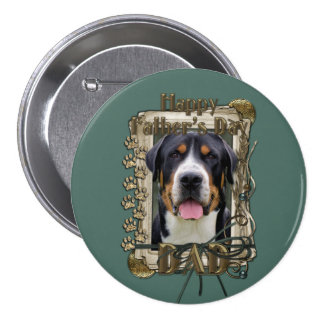 Fathers Day - Stone Paws - Greater Swiss Mountain Pinback Buttons