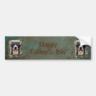 Fathers Day - Stone Paws - Greater Swiss Mountain Car Bumper Sticker