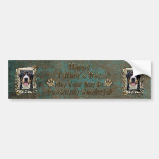 Fathers Day - Stone Paws - Greater Swiss Mountain Bumper Sticker