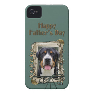 Fathers Day - Stone Paws - Greater Swiss Mountain iPhone 4 Covers