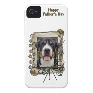 Fathers Day - Stone Paws - Greater Swiss Mountain iPhone 4 Case-Mate Cases